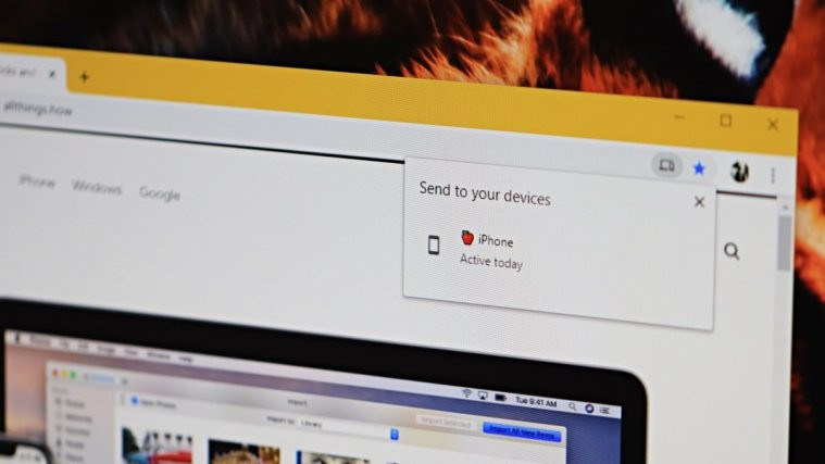 Chrome Send Tab to Your Devices Feature