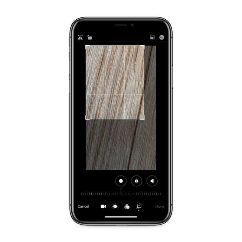 Crop and resize video iPhone photos app