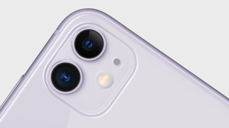 iPhone 11 camera close up