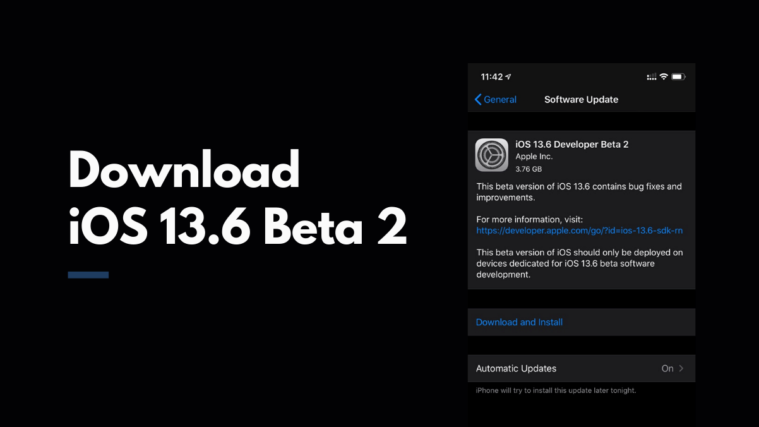 Download iOS 13.6 iPhone