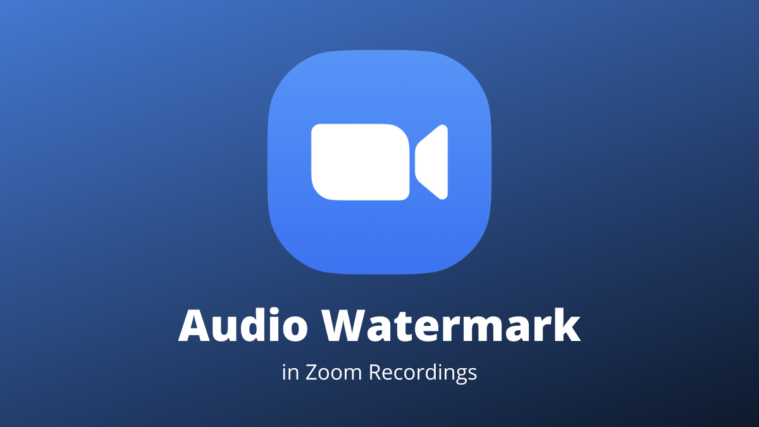 Zoom Audio Watermark