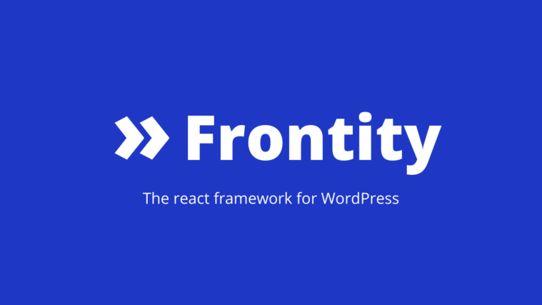 Frontity React Framework for WordPress