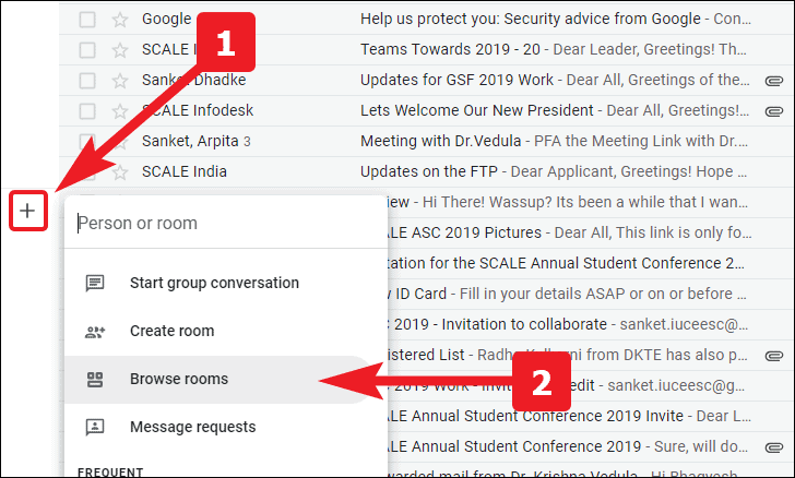 check spam invites for google chat rooms