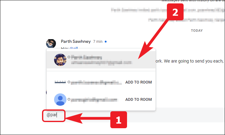 how to tag people in google chat rooms