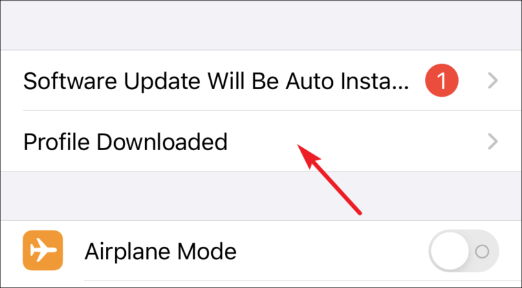 click on profile downloaded to install ios 15 beta profile