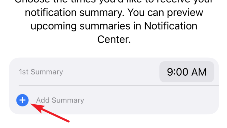 add more than one notification summary