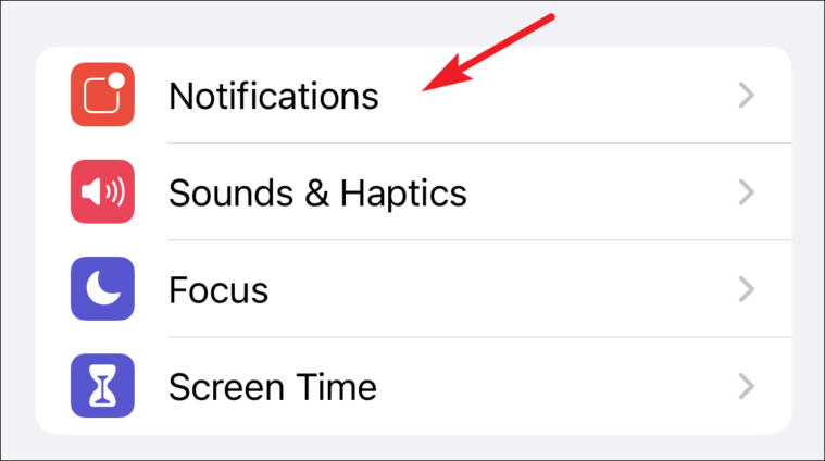 tap on notifications