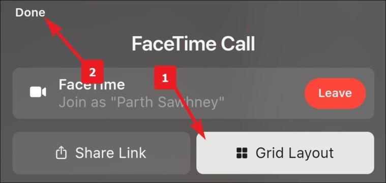 tap grid layout to enable grid layout on android