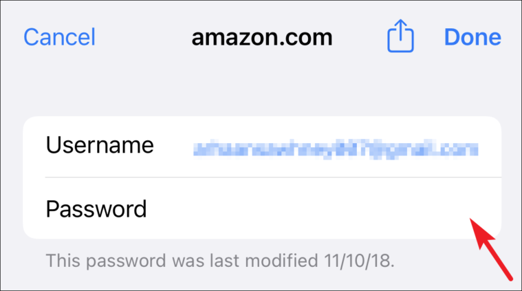 enter password from iCloud keychain from iPhone