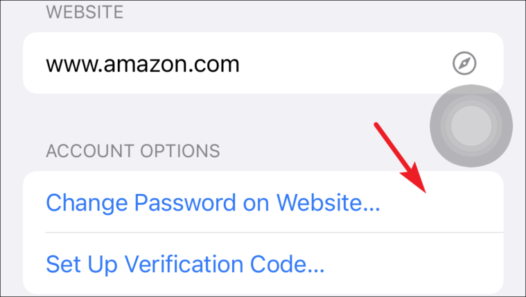 change password from iCloud keychain from iPhone